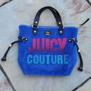 Juicy Couture Blue Velvet Purse